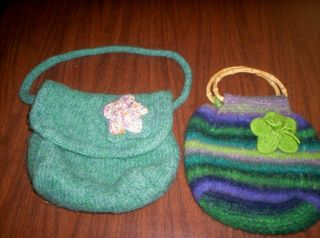 APRIL felted bags