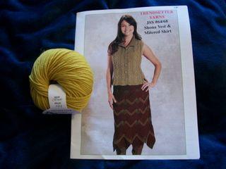 10-25 vest pattern and yarn