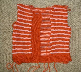 6-29 orange cardi
