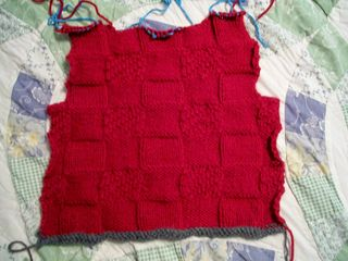 6-6 red sweater back