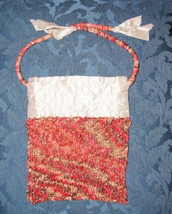 Quilted silk lined purse
