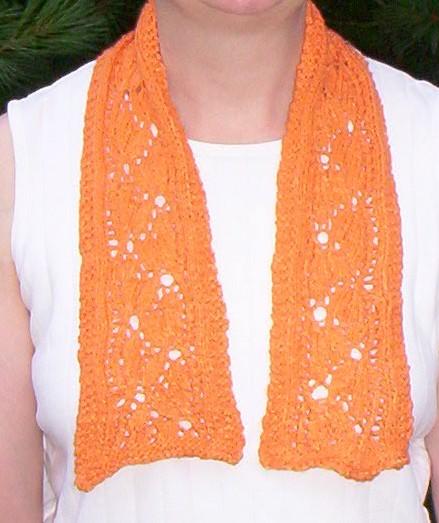 Dayflower scarf